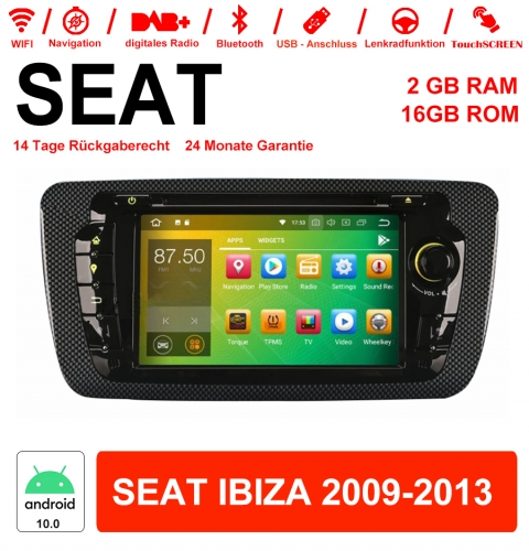 7 Inch Android 10.0 Car Radio / Multimedia 2GB RAM 16GB ROM For SEAT IBIZA 2009-2013