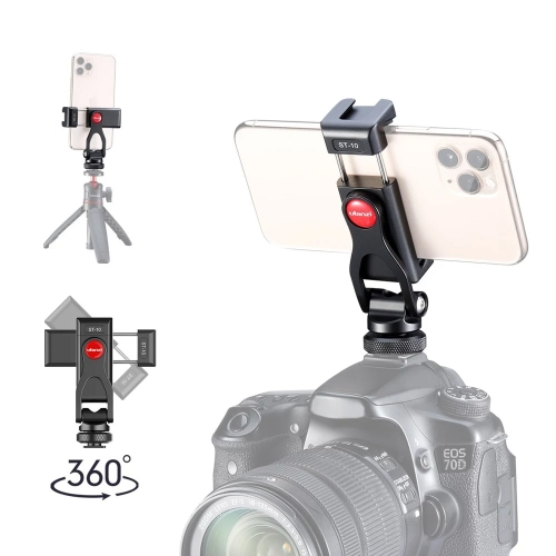 Ulanzi ST-10 Smartphone Clip Multifunctional Aluminum Alloy Phone Holder