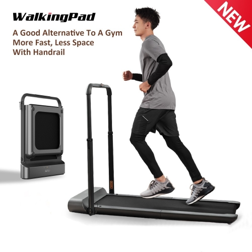 WalkingPad R1 Pro Treadmill Foldable Upright Storage Race Walking 2in1 APP Control With Handrail Home Cardio Workout