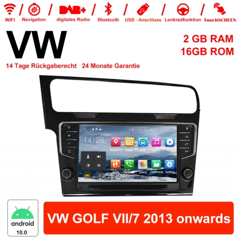 9 Inch Android 10.0 Car Radio / Multimedia 2GB RAM 16GB ROM For VW GOLF VII / 7 2013 onwards