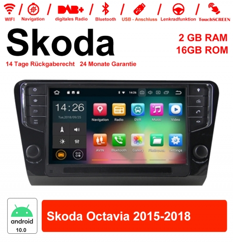 9 inch Android 10.0 Car Radio / Multimedia 2GB RAM 16GB ROM for Skoda Octavia 2015-2018